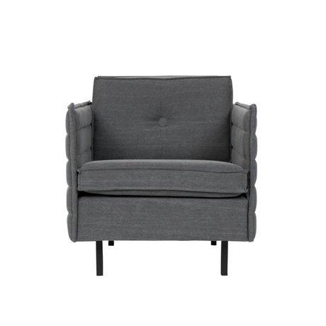 Zuiver Sillón Jaey textil oscura de metal 72x90x76cm