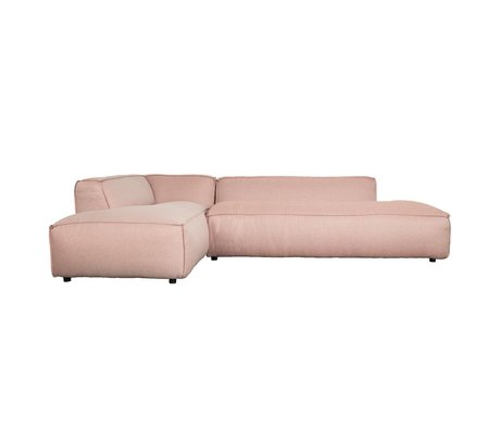 Zuiver Bank Fat Freddy 3 seater Long left Pink Plastic 308x103 / 88x72cm
