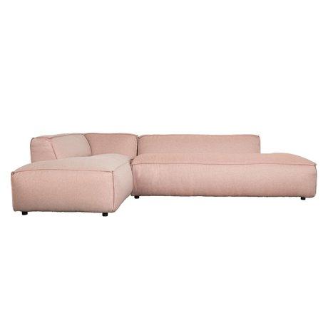 Zuiver Banco Fat Freddy 3 plazas izquierda larga de plástico rosa 308x103 / 88x72cm