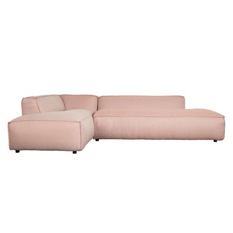 Zuiver Bank Fat Freddy 3 pers Lang forlod Pink Plastic 308x103 / 88x72cm