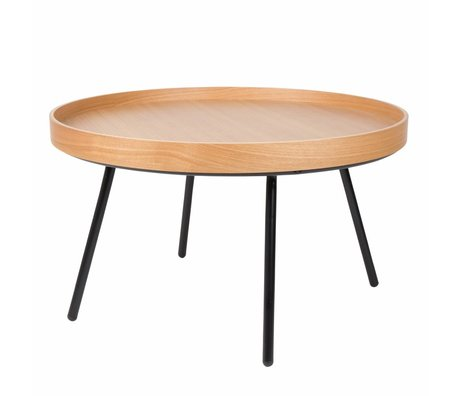 Zuiver Oak coffee table tray, wood Ø78x45cm