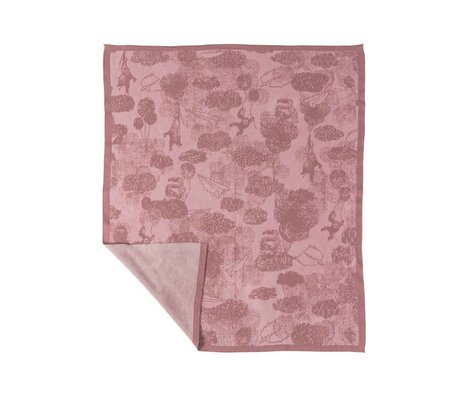 Sebra Blanket in the sky pink cotton 100x85cm