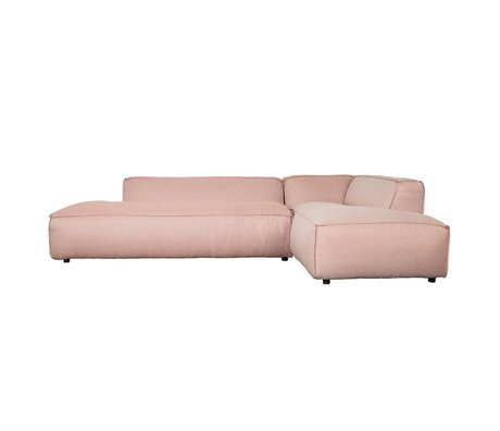 Zuiver Bank Fat Freddy 3-Sitzer Long Recht rosa Stoff Kunststoff 308x103 / 88x72cm