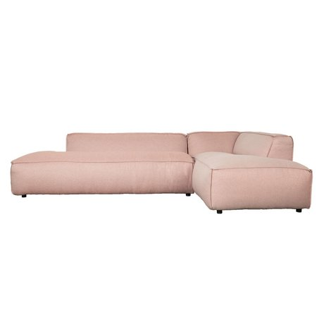 Zuiver Bank Fat Freddy 3 seater Long Pretty Pink Plastic 308x103 / 88x72cm