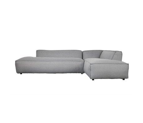 Zuiver Banca Fat Freddy 3 posti lungo diritto grigio chiaro plastica 308x103 / 88x72cm