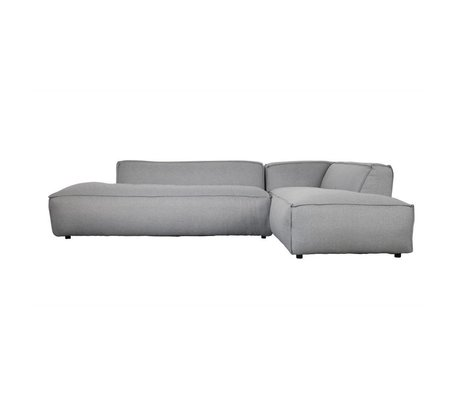 Zuiver Bank Fat Freddy 3-Sitzer Long rechts hellgrau Stoff Kunststoff 308x103 / 88x72cm