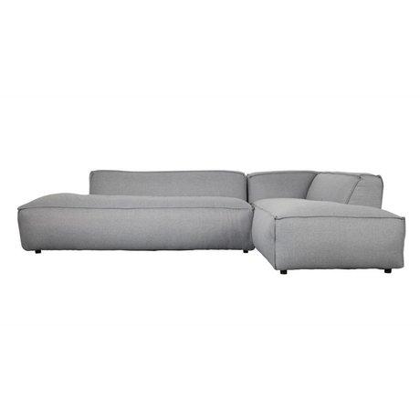 Zuiver Banco Fat Freddy 3 plazas derecha larga de color gris claro plástico 308x103 / 88x72cm