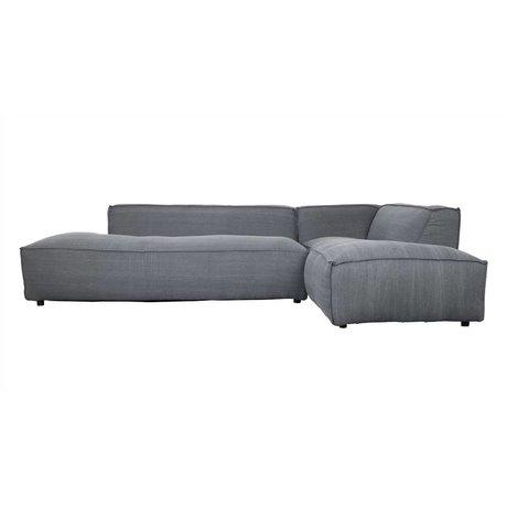 Zuiver Bank Fat Freddy 3 seater Long right dark gray fabric plastic 308x103 / 88x72cm