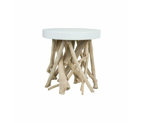 Zuiver Side Cumi bois blanc Ø46x50cm