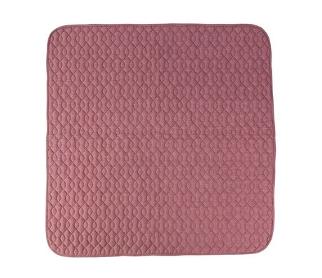 Sebra Pink cotton blanket 120x120cm