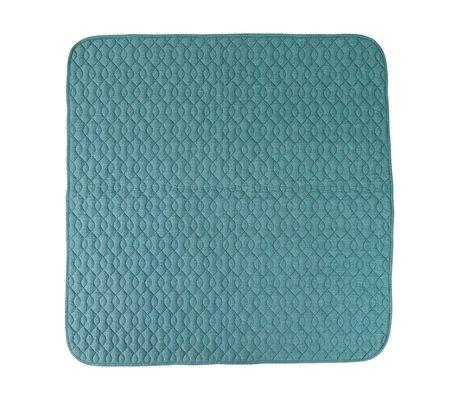 Sebra Mavi pamuklu battaniye 120x120cm