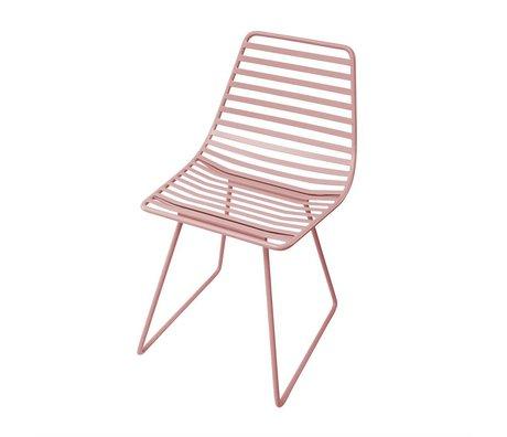 Sebra Chaise en métal rose S 32x58x33cm