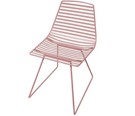 Sebra Chaise en métal rose L 47x82x48cm