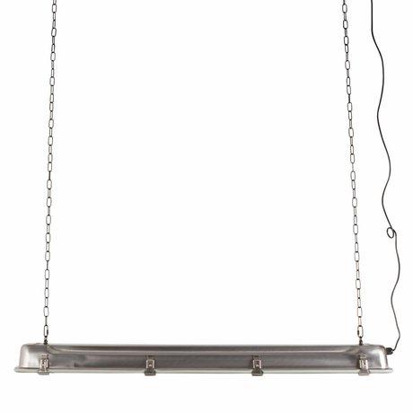Zuiver GTA lampada a sospensione di nichel, 200 centimetri di grigio metallico