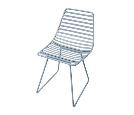 Sebra Chaise en métal bleu S 32x58x33cm
