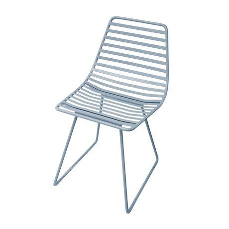 Sebra Chair blue metal S 32x58x33cm