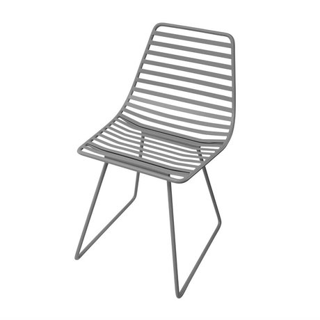 Sebra Chaise métal gris S 32x58x33cm
