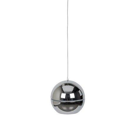 """Zuiver Lámpara colgante """"retro 70"""" Ø50x47cm de metal cromado"""