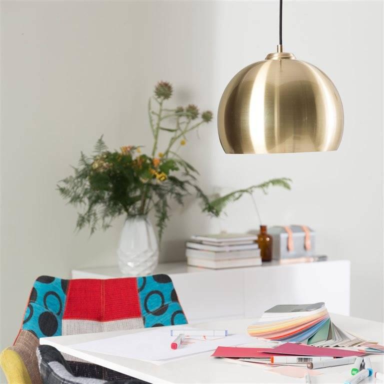 Zuiver Grande lumière pendante Glow Ø27x21cm laiton en métal ...