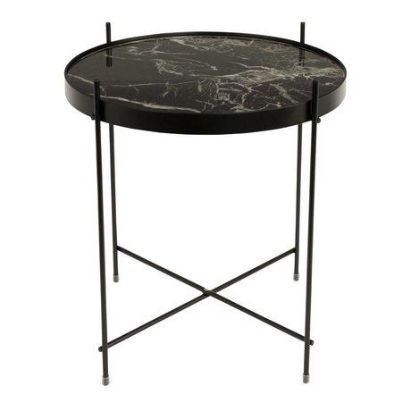 Zuiver mármol lado Cupido de metal negro Ø43x45cm negro