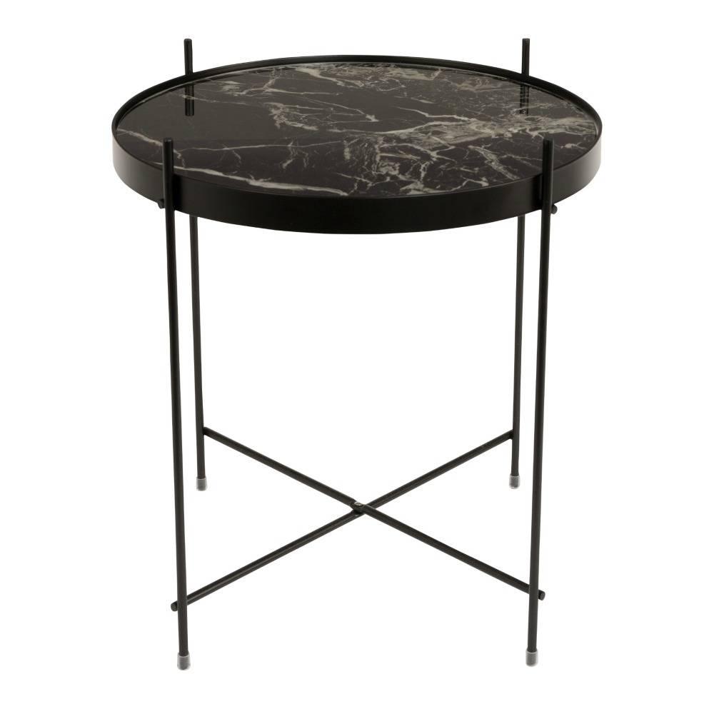 zuiver beistelltisch marmor amor schwarz metall schwarz 43x45cm. Black Bedroom Furniture Sets. Home Design Ideas
