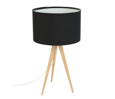 Zuiver Tripod Table Lamp black wood 28x51cm