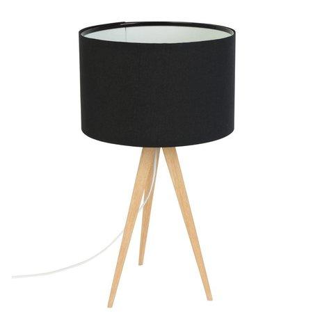 Zuiver Treppiede lampada da tavolo 28x51cm legno nero