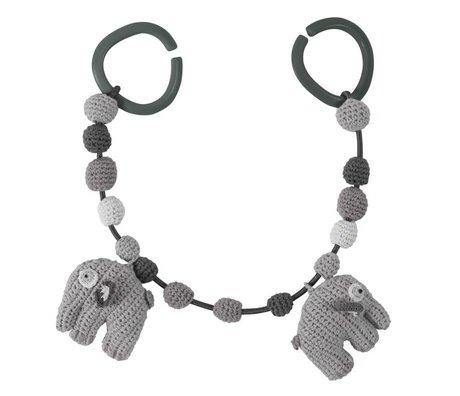Sebra Elephant Auto Spanner grau Baumwolle 53cm