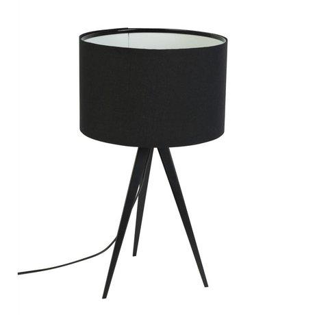 Zuiver Tripod masa lambası, metal, tekstil, siyah 28x51cm