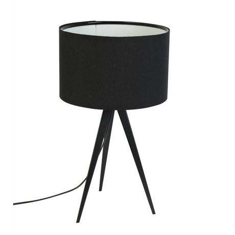 Zuiver Tripod table lamp metal, textile black 28x51cm