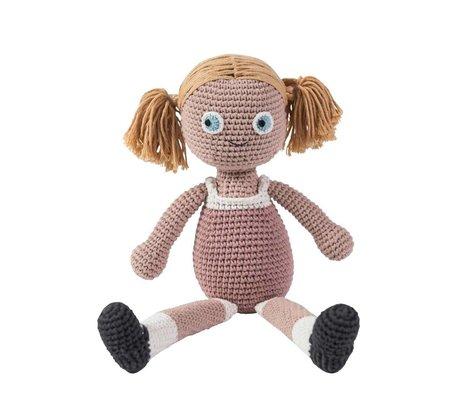 Sebra La muñeca tiene 40 cm de algodón de color rosa