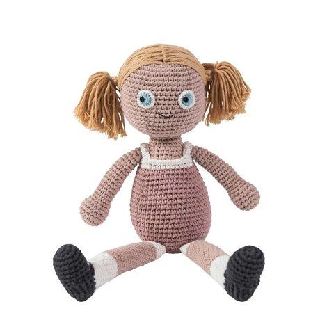 Sebra Puppe rosa Baumwolle 40cm