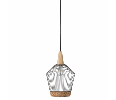 Zuiver Hanging lamp Birdy Long, metallic gray Ø31x48x150cm