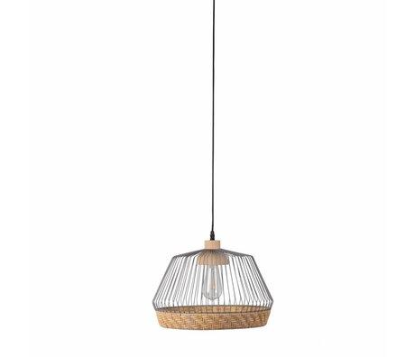 Zuiver Hängeleuchte Birdy breit, grau metallic Ø31x27x150cm