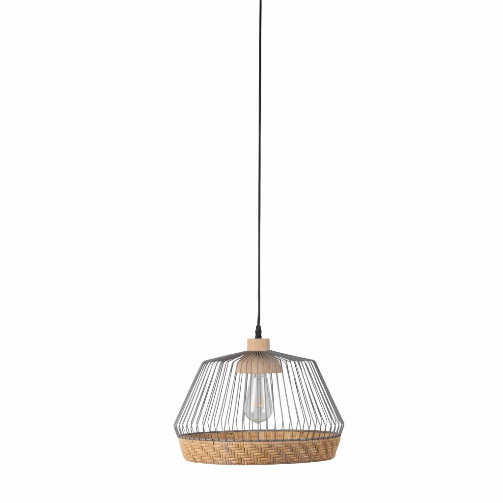 zuiver h ngeleuchte birdy breit grau metallic 31x27x150cm. Black Bedroom Furniture Sets. Home Design Ideas