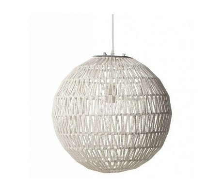 Zuiver Câble lampe suspendue 60 blanc, Ø60x170cm métal blanc