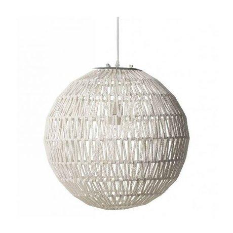 Zuiver Kabelhängelampe 60 weiß, Metall weiß Ø60x170cm
