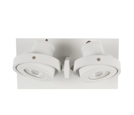 Zuiver aplique de pared de 2 DADOS 28x12x2,5cm acero blanco LED