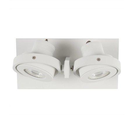 Zuiver Duvar ışık DICE 2 beyaz çelik 28x12x2,5cm LED