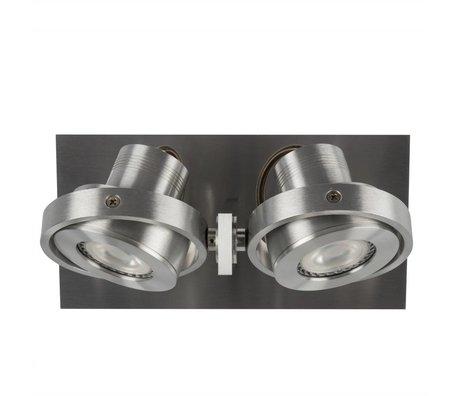 Zuiver Wandleuchte DICE 2 LED-Stahlgrau 28x12x2,5cm