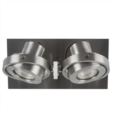 Zuiver Duvar lambası DICE 2 LED stahlgrau 28x12x2,5cm