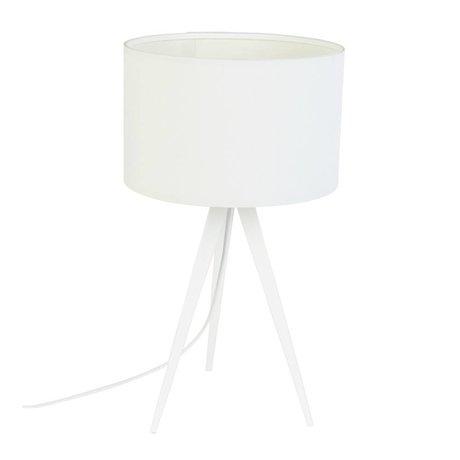 Zuiver Tripod masa lambası, metal, tekstil, beyaz 28x51cm