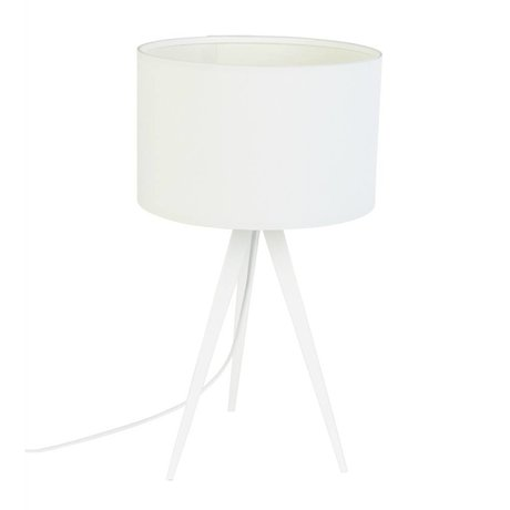 Zuiver Trípode lámpara de mesa de metal, 28x51cm blanco textil