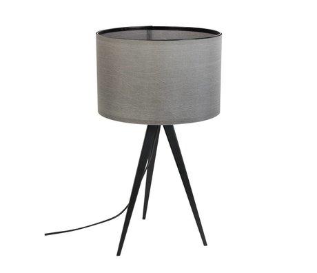 Zuiver Treppiede lampada da tavolo in metallo, tessuto nero 28x51cm grigio