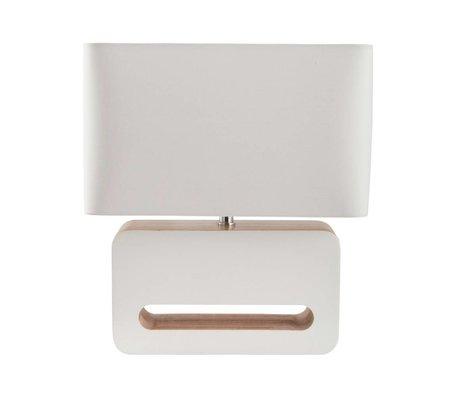 Zuiver Lampada da tavolo in legno tessuto legno bianco 30x15x34cm