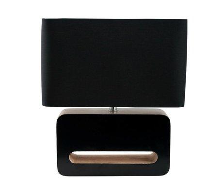 Zuiver Tischlampe Holz, Textilien, Holz schwarz 30x15x34cm