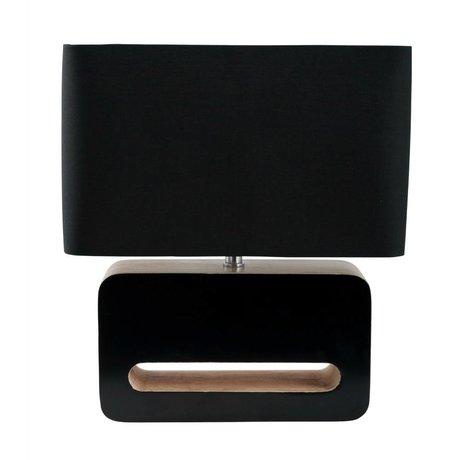 Zuiver Table lamp wood, textiles, wood 30x15x34cm black