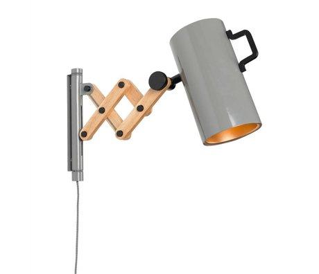 Zuiver applique da parete Flex legno acciaio 10x27,5-43x24cm grigio
