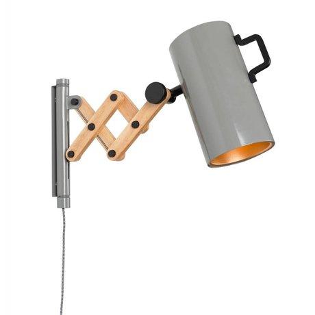 Zuiver Væglamper Flex Stål Træ grå 10x27,5-43x24cm