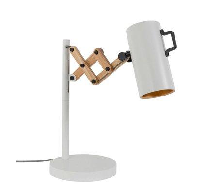 Zuiver Tischleuchte Flex Stahl Holz weiß 22x29,5-45x50cm